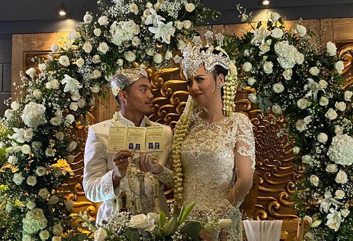 Pernikahan antara Alfath Fathier dengan Ratu Rizky Nabila.MEDIA PERSIJA