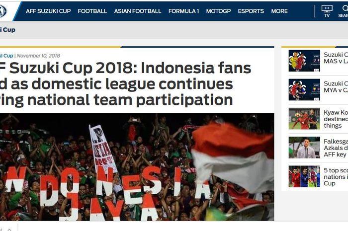 Media asing Fox Sports Asia menyindir PSSI usia laga Timnas Indonesia vs Singapura
