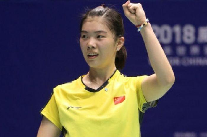 Pebulu tangkis tunggal putri Gao Fangjie (China) berhasil mengalahkan unggulan pertama Tai Tzu Ying