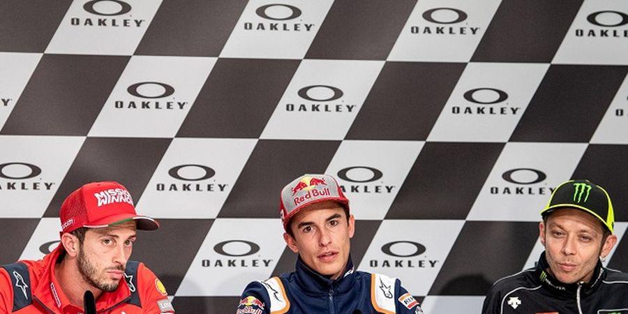 Berada di Atas Angin, Marc Marquez Lancarkan Psywar ke Valentino Rossi