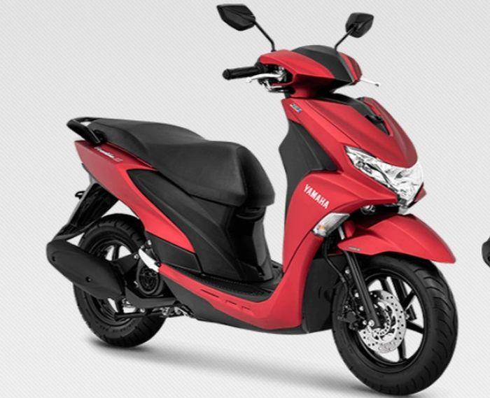 Yamaha FreeGo warna merah doff