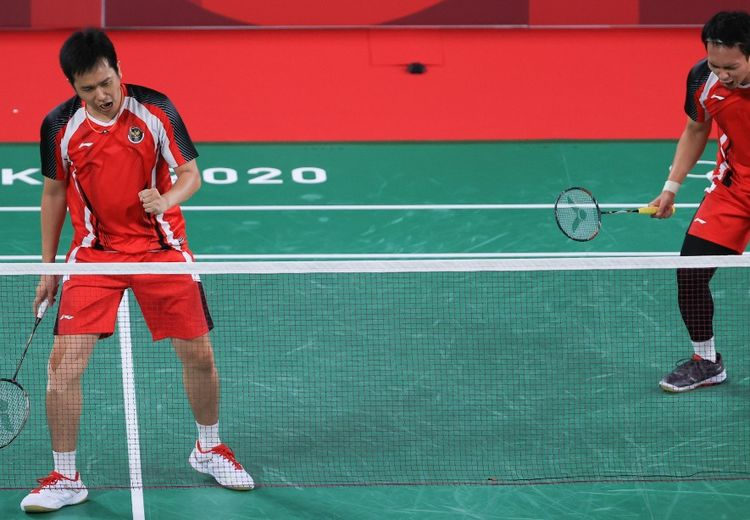 Hasil Olimpiade Tokyo 2020 -  Ahsan/Hendra Catatkan Rekor Sempurna Usai Buat Ganda Putra Nomor 1 Korea Merana