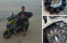 Sepul NMAX Rontok Habis Main Pasir di Pantai, Begini Tanggapan Yamaha