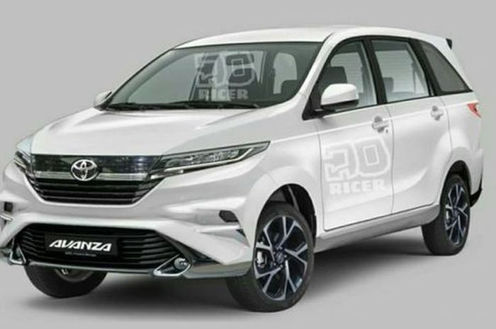 Ilustrasi: Rendering Toyota Avanza 2019
