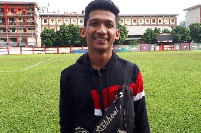 Gelandang Bhayangkara FC Teuku Muhammad Ichsan di Stadion PTIK, Jakarta, Senin (18/3/2019).