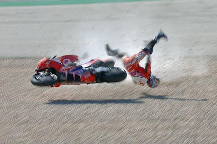 Kecelakan horor, Jorge Martin pada FP3 MotoGP Portugal 2021 sempat membuat, Marc Marquez takut.