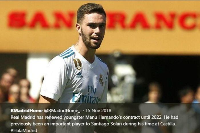Bek muda Real Madrid, Manu Hernando.