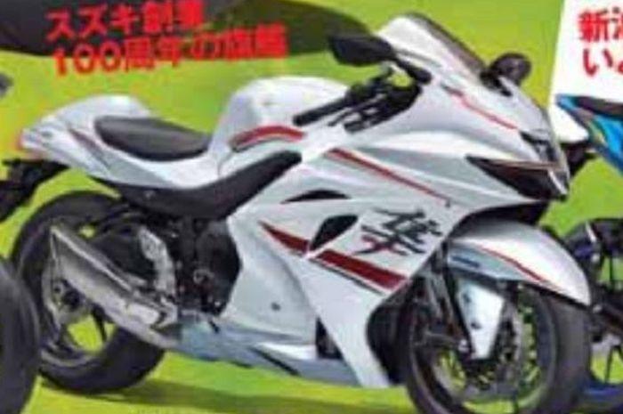 Penampakan Suzuki Hayabusa terbaru.