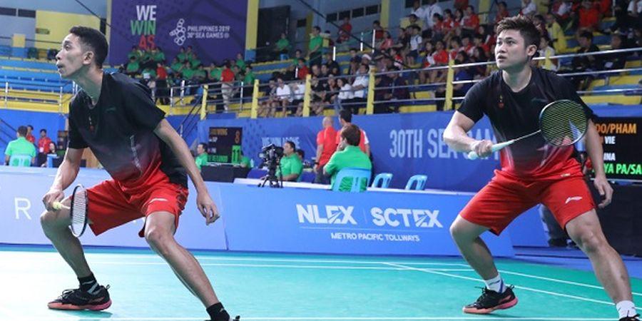 Hasil Bulu Tangkis SEA Games 2019 - Hampir Menang, Wahyu/Ade Akhirnya Tumbang