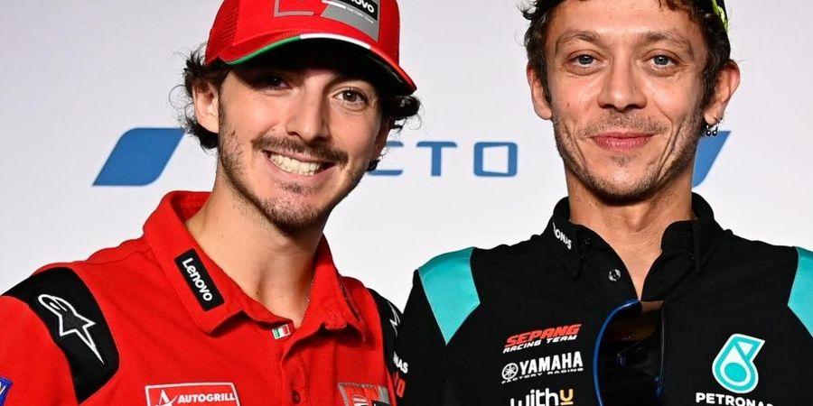 Guru Jadi Sahabat, Ini Cerita Pertemuan Francesco Bagnaia dengan Valentino Rossi