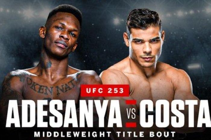 Poster UFC 253: Israel Adesanya vs Paulo Costa.