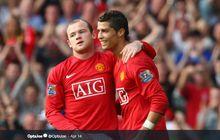 Karena Satu Alasan, Wayne Rooney Senang Saat Cristiano Ronaldo Pergi dari Man United