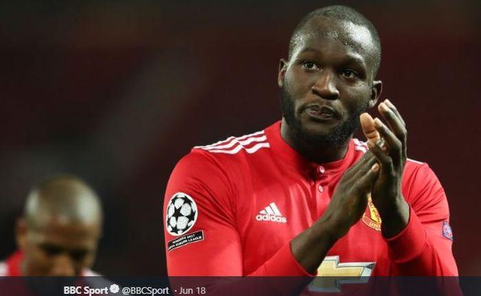 Penyerang Manchester United, Romelu Lukaku.