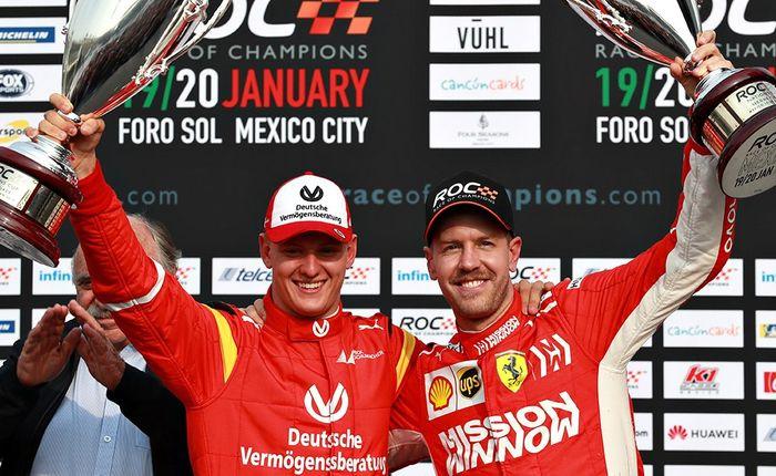 Mick Schumacher dan Sebastian Vettel menempati posisi runner-up di Race Of Champions 2019 Meksiko