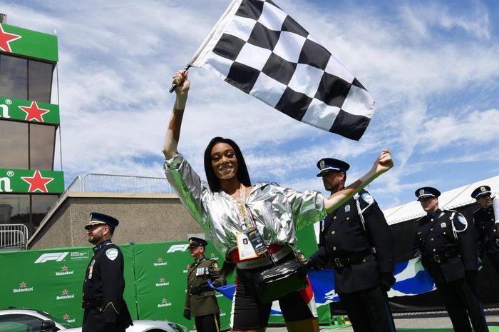 Winnie Harlow hadir di GP F1 Kanada sebagai tamu khusus