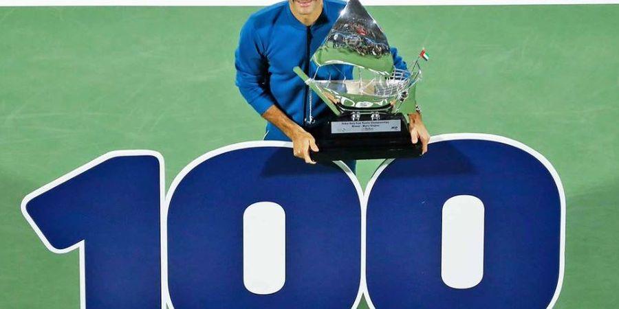 Kalahkan Tsitsipas di Laga Pamungkas, Federer Rengkuh Gelar ke-100