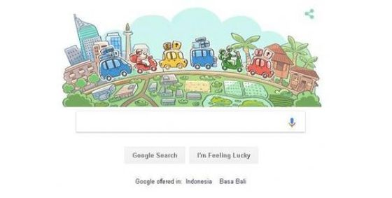 Ilustrasi Google Doodle Mudik 2018