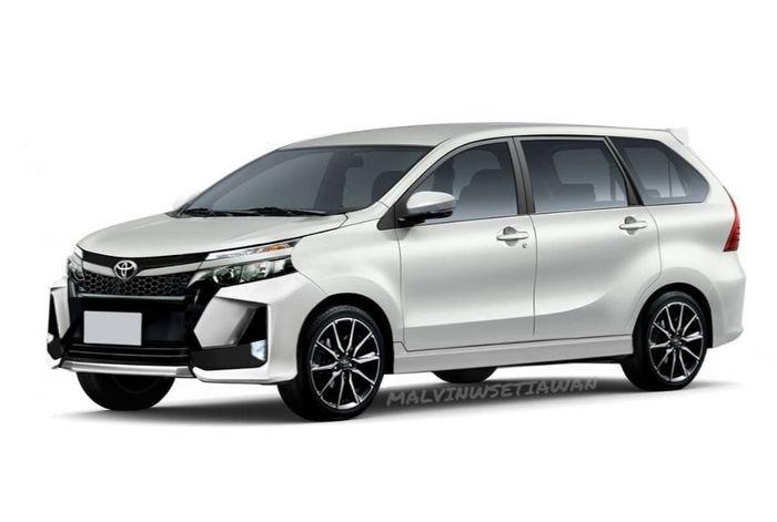 Modifikasi digital Toyota Avanza terbaru dengan aksen Vellfire