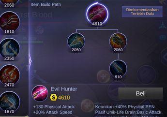 Evil Hunter, Item Terbaru Khusus Brawl Mode di Mobile Legends