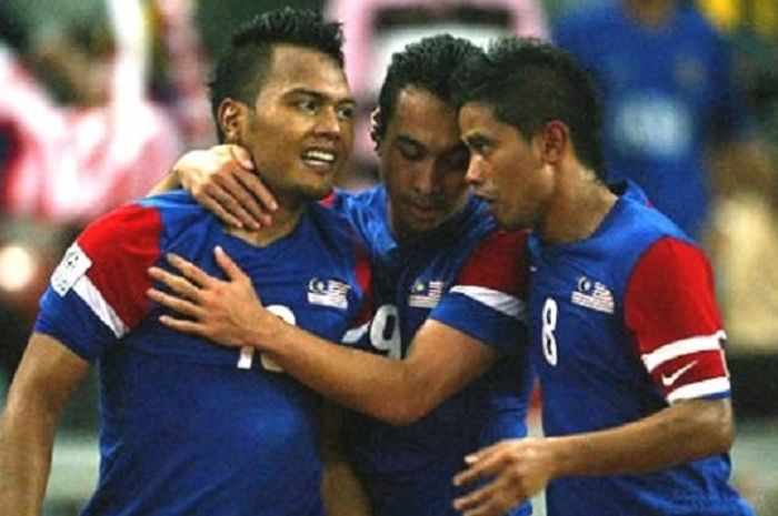 Tiga pemain pilar timnas Malaysia pada PIala AFF 2010: Safee Sali, Norshahrul Idlan Talaha, dan Safiq Rahim.