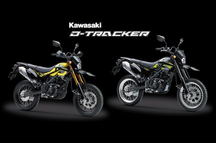 Kawasaki D-Tracker SE (kanan) dan tipe standar (kiri)