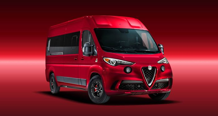 Modifikasi digital Alfa Romeo diubah menjadi MPV