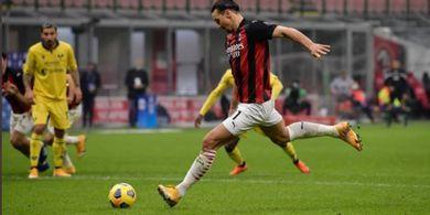 VIDEO - Cetak Gol Pakai Paha, Zlatan Ibrahimovic Bikin Rekor