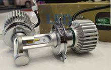 Trik Gampang Pasang Lampu LED di Motor yang Kelistrikannya Masih AC