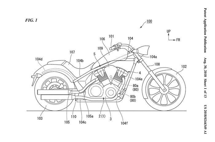 Paten baru Honda akan diterapkan di motor 1.312 cc