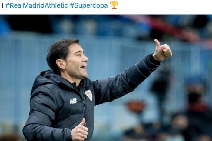 Pelatih Athletic Bilbao, Marcelino.