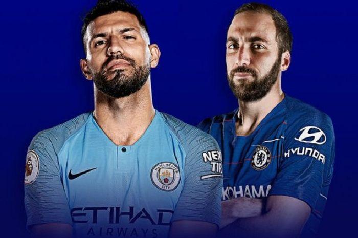 Manchester City versus Chelsea, salah satu laga menarik dalam jadwal live 10 Februari 2019.