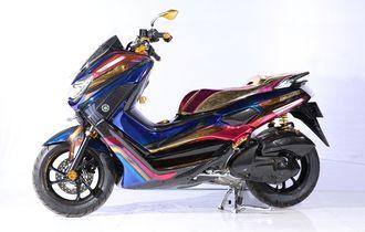 Detail Warna Krom Pelangi Bawa Yamaha NMAX Ini Jadi Master di Bandung