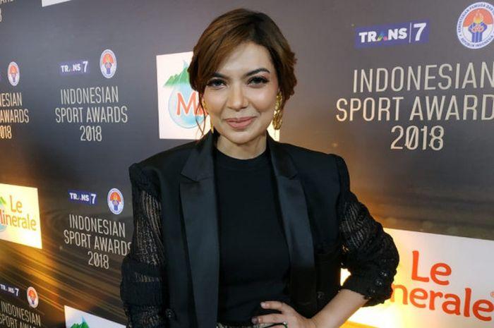 Najwa Shihab  menghadiri Indonesian Sport Awards 2018, di Studio 1 Trans TV