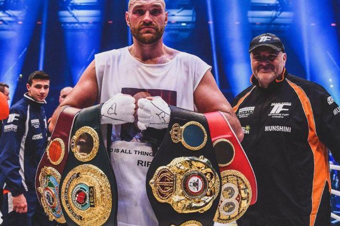 Mantan juara dunia tinju kelas berat asal Inggris, Tyson Fury
