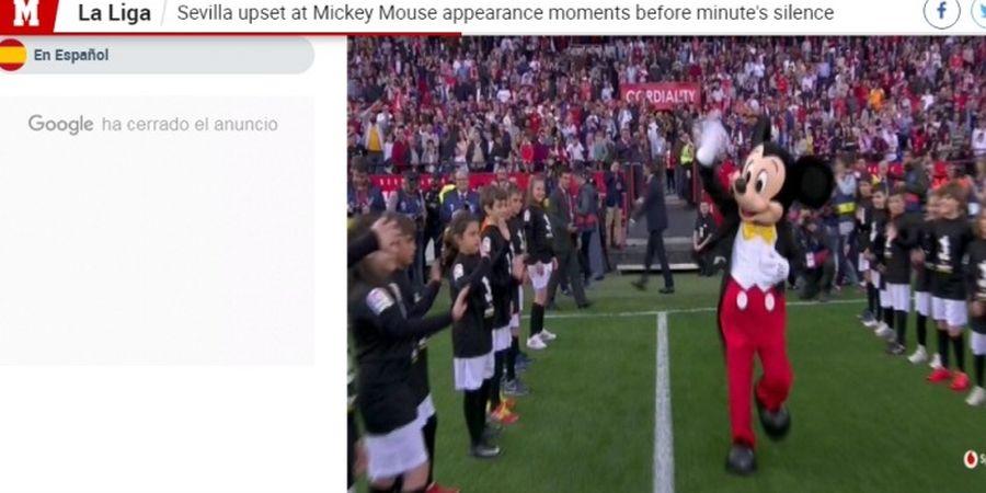 Sevilla Vs Barcelona - Mickey Mouse Merusak Suasana