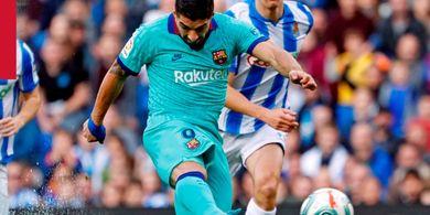 Hasil Liga Spanyol - Assist Ke-5 Lionel Messi untuk Luis Suarez, Barcelona Main Imbang