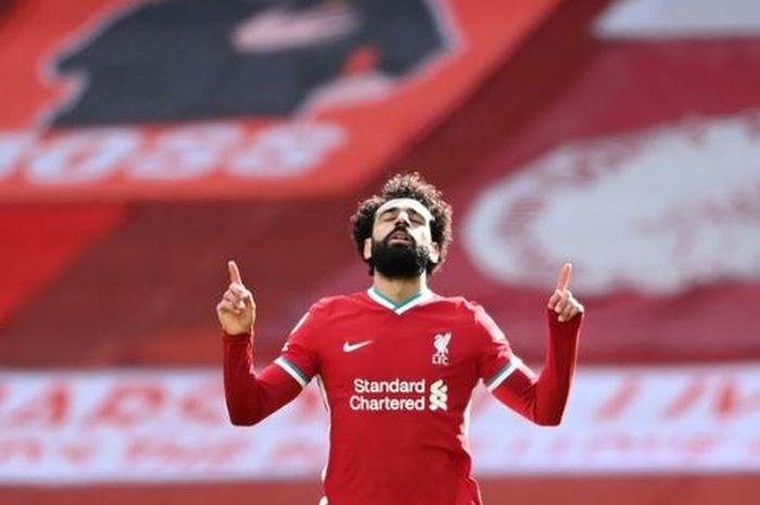 Mohamed Salah sumringah sambut bulan Ramadan.