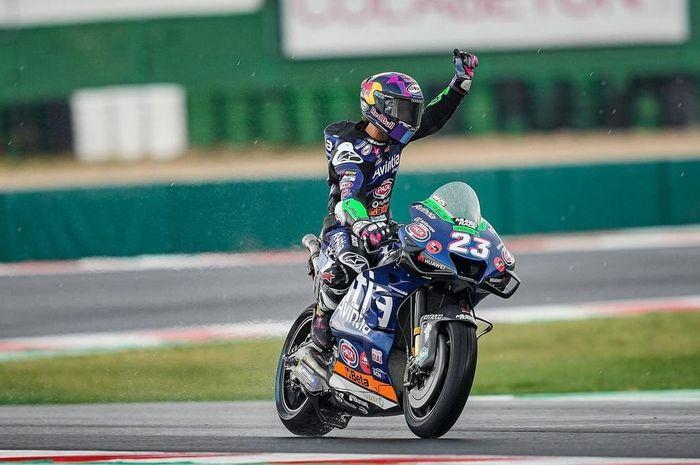 Enea Bastianini raih podium 3 di MotoGP Misano 2021. Jadi podium pertamanya