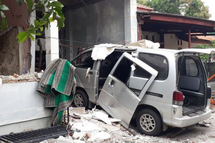 Suasana rumah korban ledakan akibat bocor tabung gas 12 kg