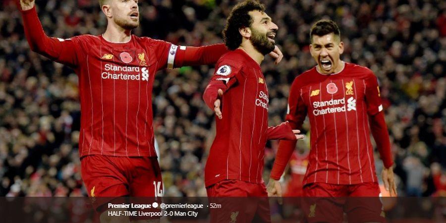 Hasil Liga Inggris - Mane-Salah Cetak Gol, Liverpool Atasi Man City