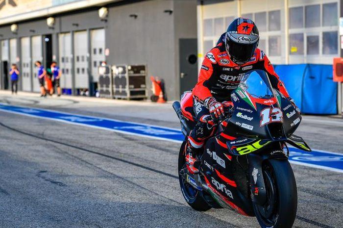 Pembalap MotoGP dari tim Apilia Racing, Maverick Vinales.