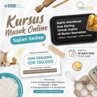 Kursus Masak Online Sajian Sedap Premium - Edisi Ramadhan
